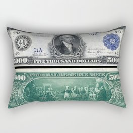 1918 James Madison $5,000 Federal Reserve Bank Note Rectangular Pillow