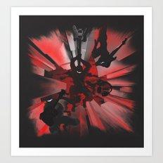 Ninja Rocks Art Print