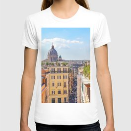 ROME the Streets:  Rooftop View of Rome, Italy T-shirt