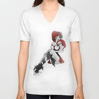 ruby V-neck T-shirts featuring Ruby by Ivriniel Arts
