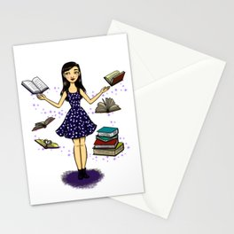 Ratona de Libros Stationery Cards