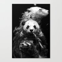 bears Canvas Prints featuring bears by kian02