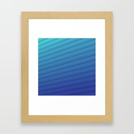 Aqua Feather Framed Art Print