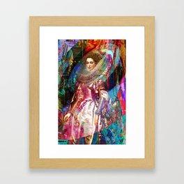 Galaxy Queen Framed Art Print