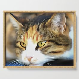 Contented Cat Serving Tray