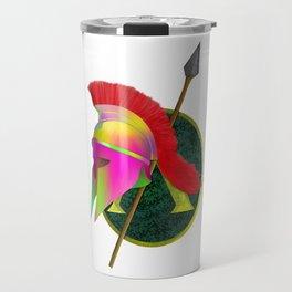 Spartan Helmet Colorful Travel Mug