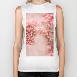Wall abstract old ivy leaves Biker Tank