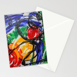 Space Travel Abstract Painting Stationery Cards