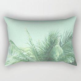 Mint Tropical Palm Rectangular Pillow