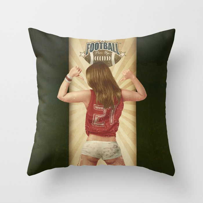 VINTAGE GIRLS - Footnall Throw Pillow