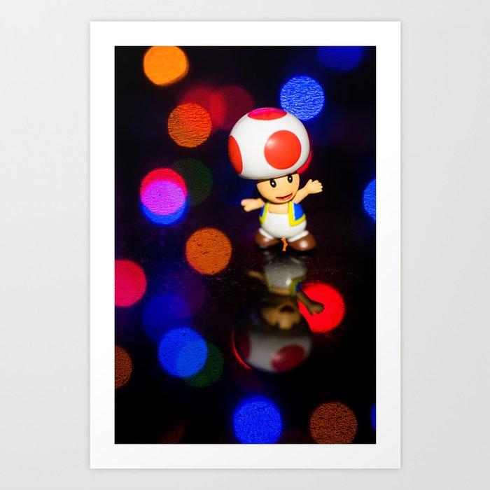 Dancing toad Art Print
