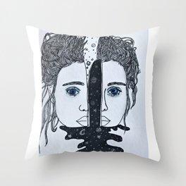 Love Her Mind First Throw Pillow