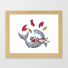 Lobstah Dinnah Framed Art Print