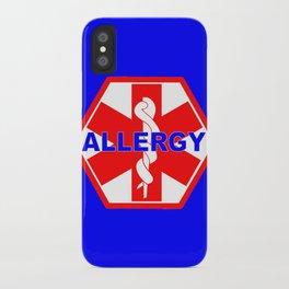 ALLERGY MEDICALALERT IDENTIFICATION TAG iPhone Case