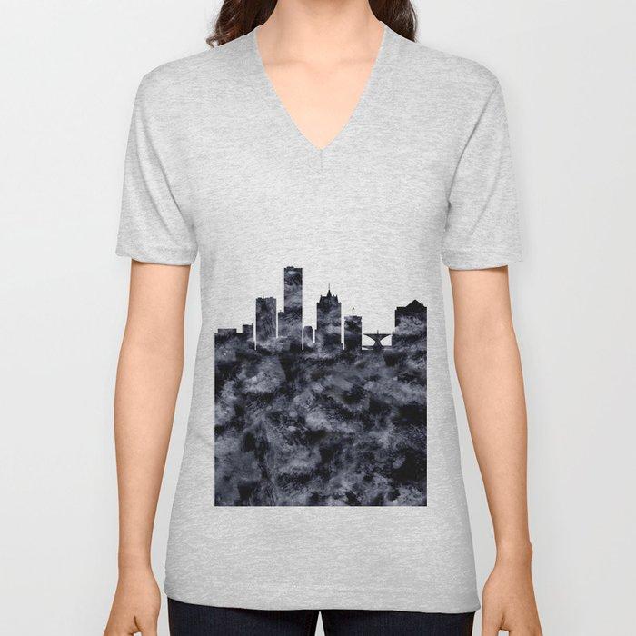 Milwaukee Skyline Wisconsin Unisex V-Neck