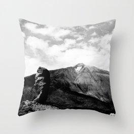 Teide in black Throw Pillow