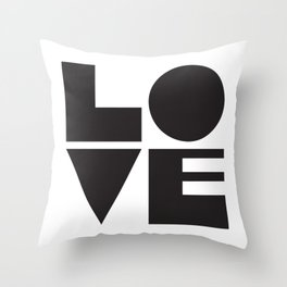 Square Love Throw Pillow