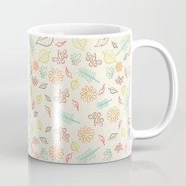 Colorful Leaves Pattern Coffee Mug
