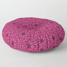 Pink Yarrow Lace Floor Pillow