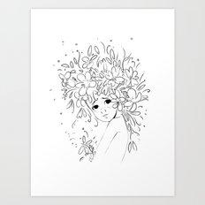 Flowergirl Art Print