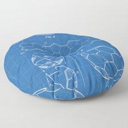 Soccer Ball Patent - Football Art - Blueprint Floor Pillow