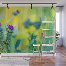 Garden of vibrant colors wildflowers II Wall Mural