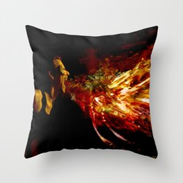 The Firebreather Throw Pillow