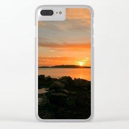 Sunrise in the cove of Sa Sal Rossa, Ibiza Clear iPhone Case