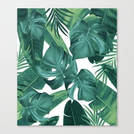 Tropical Summer Jungle Leaves Dream #2 #tropical #decor #art #society6 Canvas Print