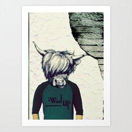 Yak Head Art Print