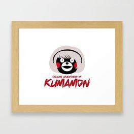 Chilling Adventures of Kumamon Framed Art Print