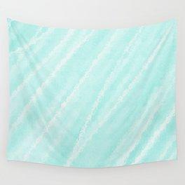 Cyan Waves Oceanside Wall Tapestry