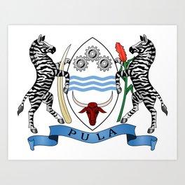 Coat of arms of Botswana Art Print