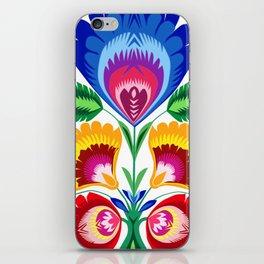 folk flower iPhone Skin