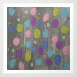 Pastel Bubbles Abstract Art Print