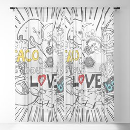 let's TACO bout LOVE baby Sheer Curtain
