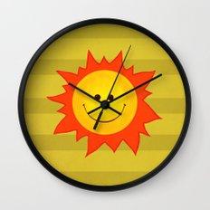 Smiling Happy Sun Wall Clock