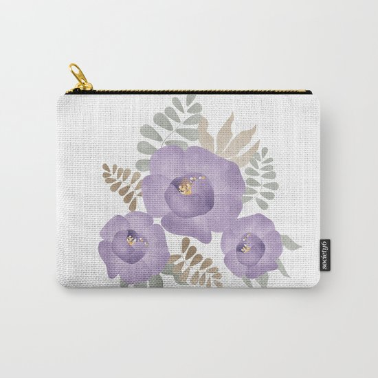 Light lilac roses. Carry-All Pouch