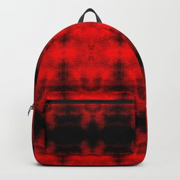 Red Black Diamond Gothic Pattern Backpack