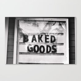 Baked Goods Canvas Print