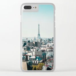 I <3 parisian rooftops. Clear iPhone Case