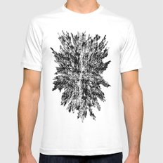 Metropolis (for other colors, see Black Ice and Starburst) White Mens Fitted Tee MEDIUM