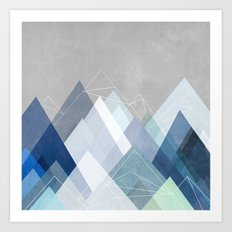 Graphic 107 X Blue Art Print