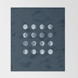 8bit Moon Phases Throw Blanket