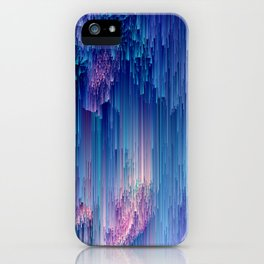 Fairy Glitches - Abstract Pixel Art iPhone Case