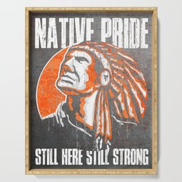 American Native Indian Warrior, Native Pride Serving Tray