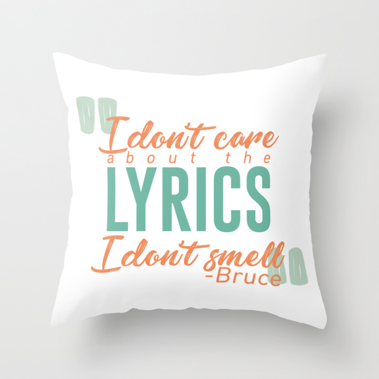 Picture of: Jingle Bells Bat Smells Robin Christmas Carol Parody Funny Throw Pillow By Art Iculate Society6