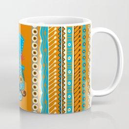 Sugar Skull with Mexian style borders Coffee Mug