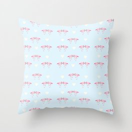 "Collection ""Love Birds"" impression ""Loving Flamingo"" Throw Pillow"