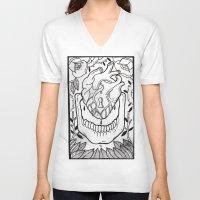 bones V-neck T-shirts featuring Bones by Jimmy Kid